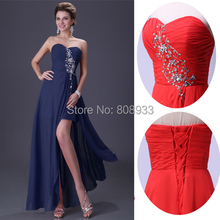 Vestido de noche rojo 2015 del vestido Formal del partido de tarde elegante Maxi vestidos baile vestidos de fiesta de noche vestido de traje de soirée LY3443(China (Mainland))