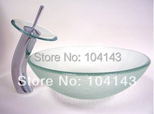 Favorate Round Shampoo Sinks Construction&Real Estate Kitchen&Bath Fixtures Bathroom Sinks&Mounting Ring Glass Basin Set