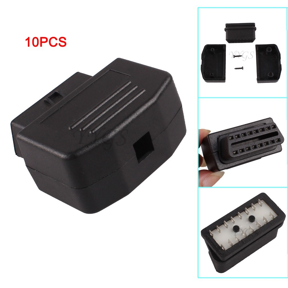 1Universal Crar Auto 16 Pin OBD2 Female Terminal Connector Plug Shell OBDII OBD II Diagnostic Tool Adaptor