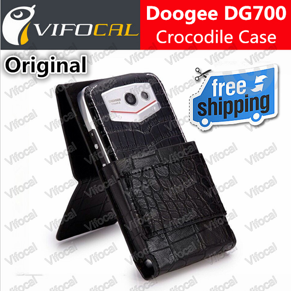 Doogee DG700 case Crocodile 100% Original New TITANS2 Mobile Phone Protective Leather Case Flip Cover + Free Shipping(China (Mainland))