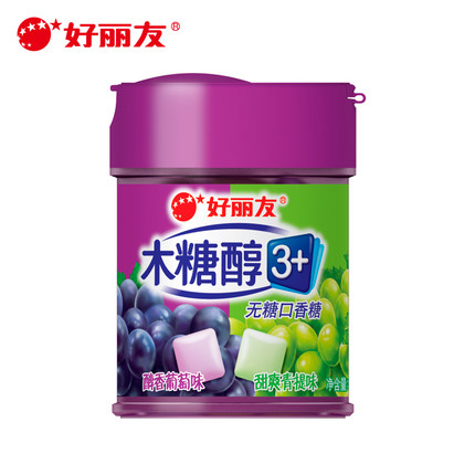 56g Chinese food Sugar-free Chewing Gum Grape Sweet Taste China Snack Confection Improve Oral Health Hygiene Teeth<br><br>Aliexpress