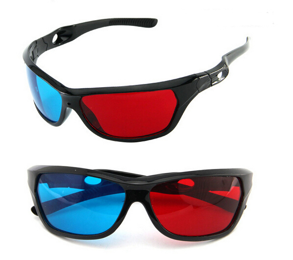 2015 Universal type 3D glasses/ Color Red Blue Cyan 3D Glasses TV Movie Dimensional Anaglyph Video Framed 3D Vision Glasses(China (Mainland))