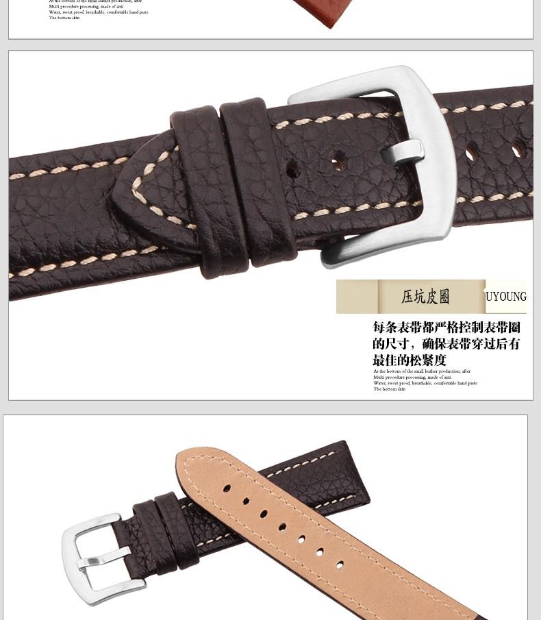 Высокое качество импортные кожаный браслет телячьей кожи ремешок для часов черный коричневый часы аксессуары 1820 22 мм