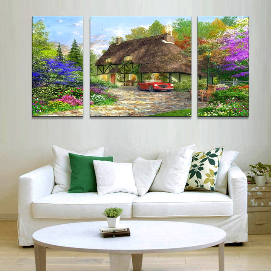 Small landscape painting promotion shop for promotional for Small paintings that sell