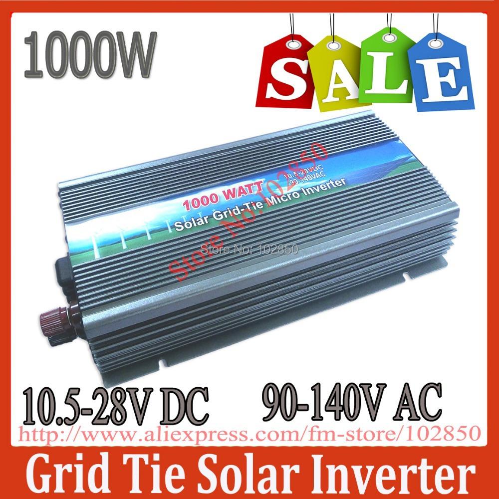Sale!120V AC 1000W MPPT grid tie solar inverter,10.5-28V DC,90-140V AC,Solar grid tie inverter,CE,IP23 indoor design(China (Mainland))