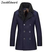 Free Shipping Autumn And Winter Fashion Brand Wool Coat Men Middle Long Jackets And Coats Men Outdoor Warm Woolen Overcoat M-3XL(China (Mainland))