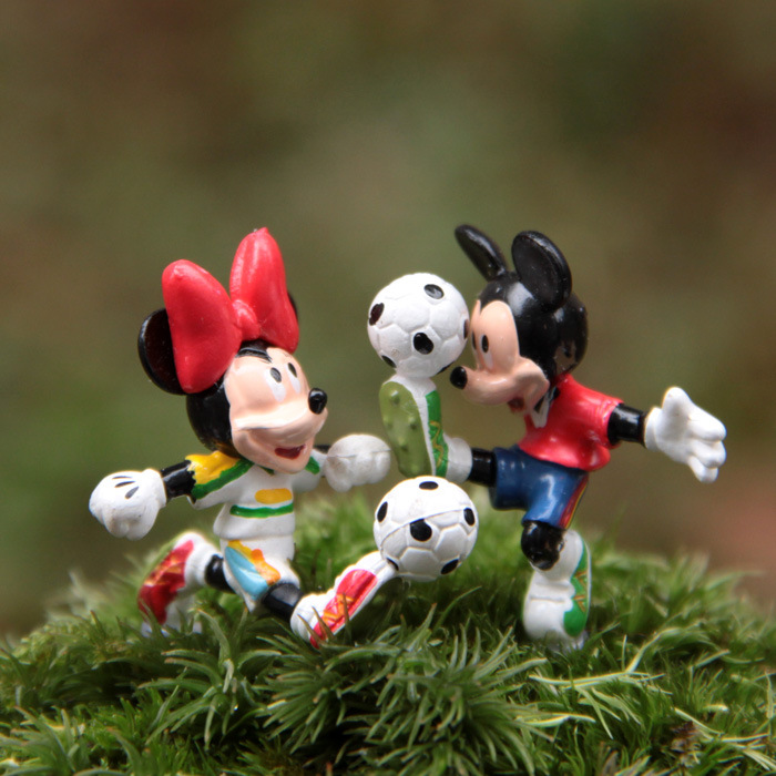 3.3cm random cute Mickey Minnie doll ornaments model Action Figure Toy collection cartoon decoration xmas gift(China (Mainland))