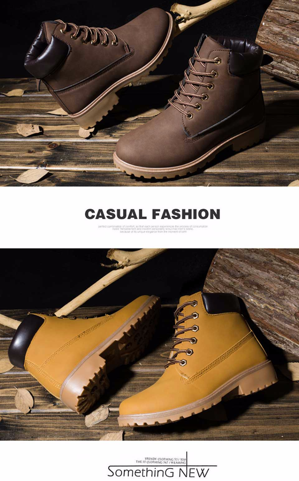 2016 Fashion Ankle Boots Women Leather Top Quality Black Winter Snow Boots for Women Lace Up Timber Women's Shoes Leather Fall