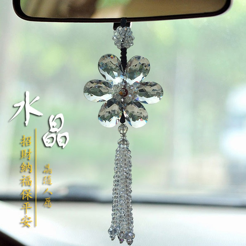 Christmas gift car suncatchers crystal cars pendant ornament/amulet/decor/hanging/car hung(China (Mainland))
