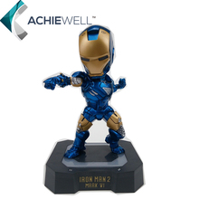 Marvel Egg Attack Iron Man Mark VI Blue Iron Man PVC Action Figure Collectible Toy with LED Light 7″ 18CM HRFG329