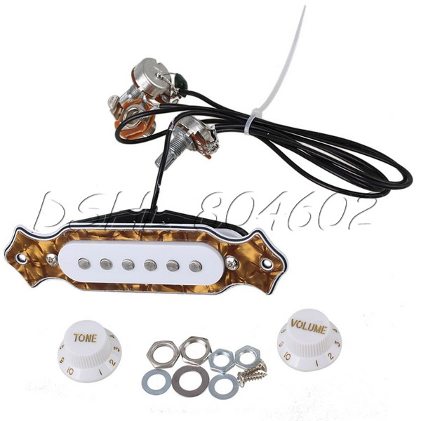 Pearl Color 6-string Prewired Acoustic Guitar Soundhole Pickup <br><br>Aliexpress