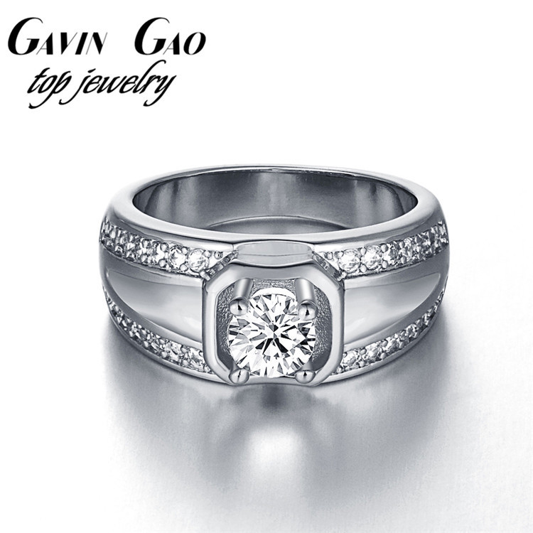 top quality fashion jewelry 18k white gold plated