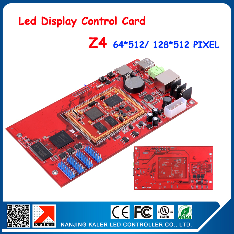 High quality advertising full cod lor ledisplay control card support 14 languagues with HUB75 usb and ethernet port Z4 64*512(China (Mainland))