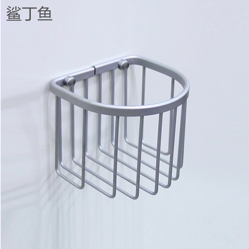 space aluminum bathroom toilet paper basket storage basket wastebasket bathroom hand towel rack hardware bathroom accessories(China (Mainland))