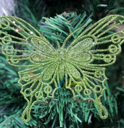 2013 New Hot Beautiful Butterfly Glitter Christmas Ornament Wedding Party Home(China (Mainland))