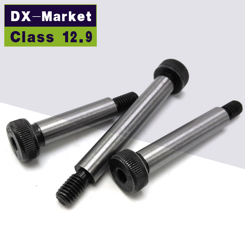 8mm*M6 , class12.9  shoulder Bolts , high quality screw ISO7379 Alloy Steel Standard Metric thread Fasteners<br><br>Aliexpress