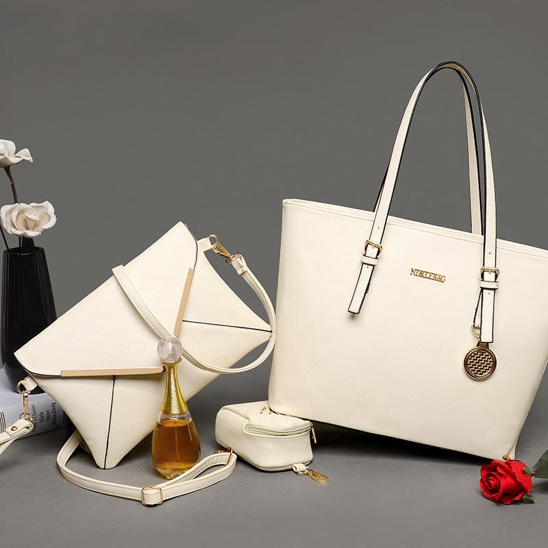 Simple Design High Quality Women Casual Handbag Shoulder Bags Female Noble Messenger Bag Composite Bag Buy One Get Two Free 1301(China (Mainland))