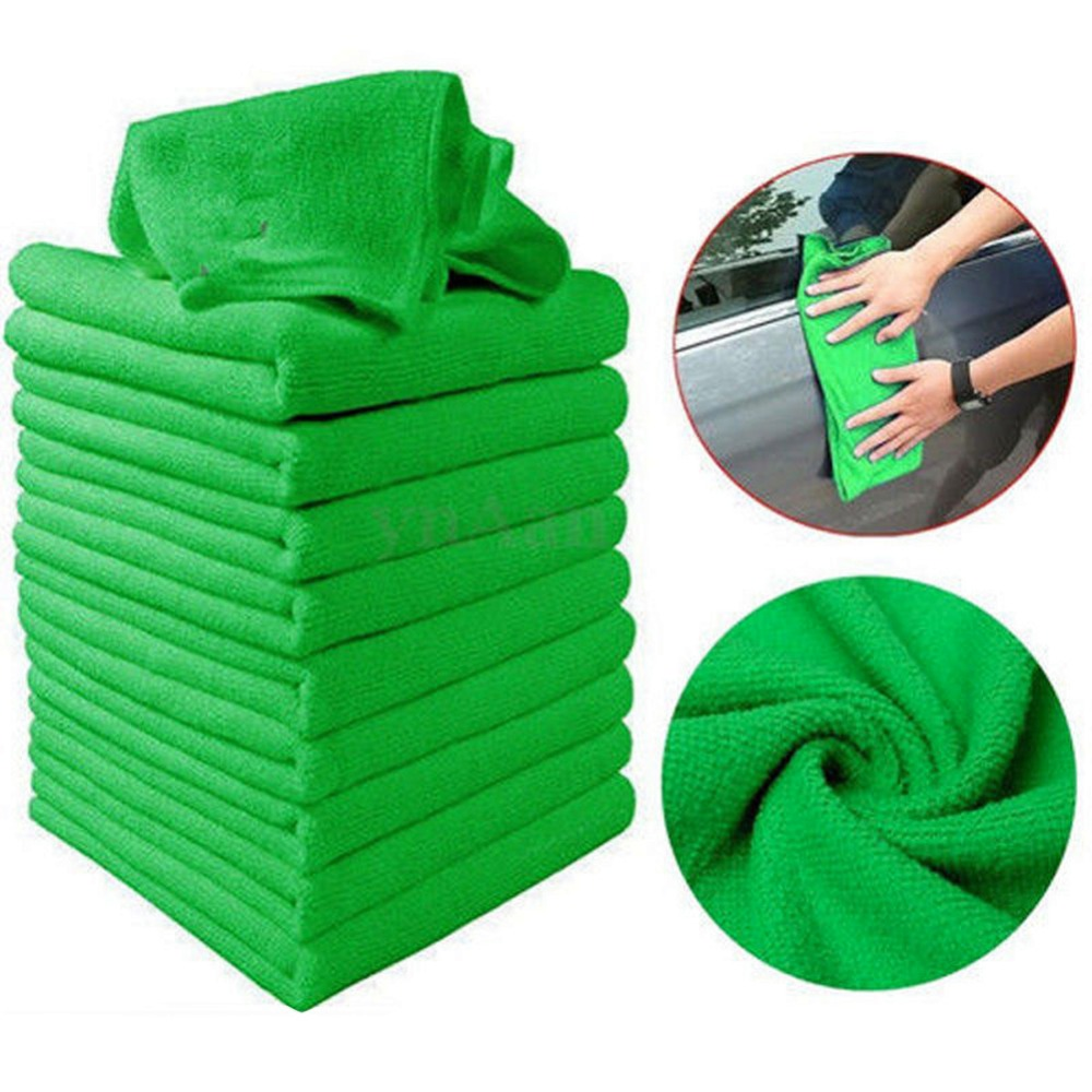 Car Accessories 10PCS/Lot 30*30CM Green Microfiber Cleaning Auto Car Detailing Soft Cloths Wash Towel Duster For Car Maintenance(China (Mainland))
