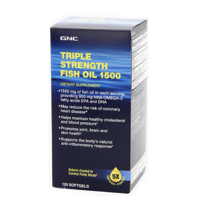 Free shipping Health care Triple Strength Fish Oil 1500 mg, 120 Soft Gels(China (Mainland))