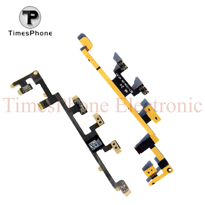 20pcs/lot Original New Power Volume swith button volume control power flex cable for ipad 3 & 4 Free Shipping(China (Mainland))