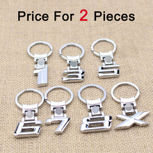 2.71$/2pcs numbers 1/3/5/6/7/8/x car logo key ring chain keyrings keychains free shipping