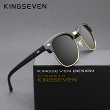 KINGSEVEN 2016 New Polarized Sunglasses Men/Women Retro Rivet High Quality Polaroid Lens Brand Design Sun Glasses Female Oculos(China (Mainland))