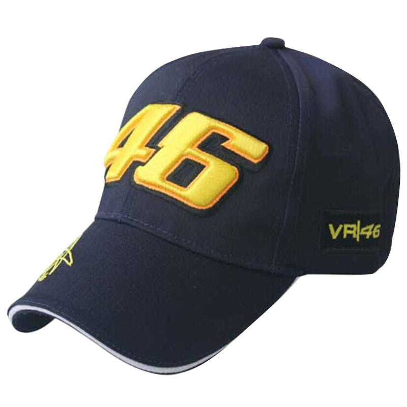 2016 Black Blue F1 racing cap Car Motocycle Racing MOTO GP VR 46 rossi Embroidery sport hiphop cotton trucker Baseball Cap Hat(China (Mainland))