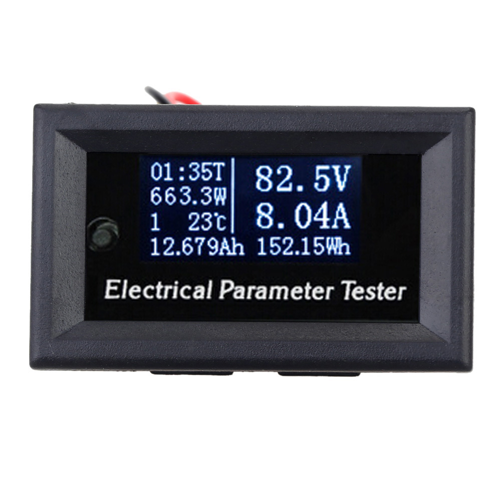 7-in-1 Electrical Parameter Meter Multifunctional Power Meter OLED Voltage Current Time Power Energy Capacity Temperature Tester(China (Mainland))