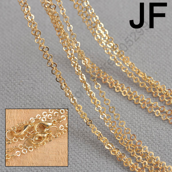 Jewelry Findings Wholesale 20Pcs 18K Rose Gold Plate GP Link Square Necklace Chains 18KGP Stock Fast Shipping(China (Mainland))