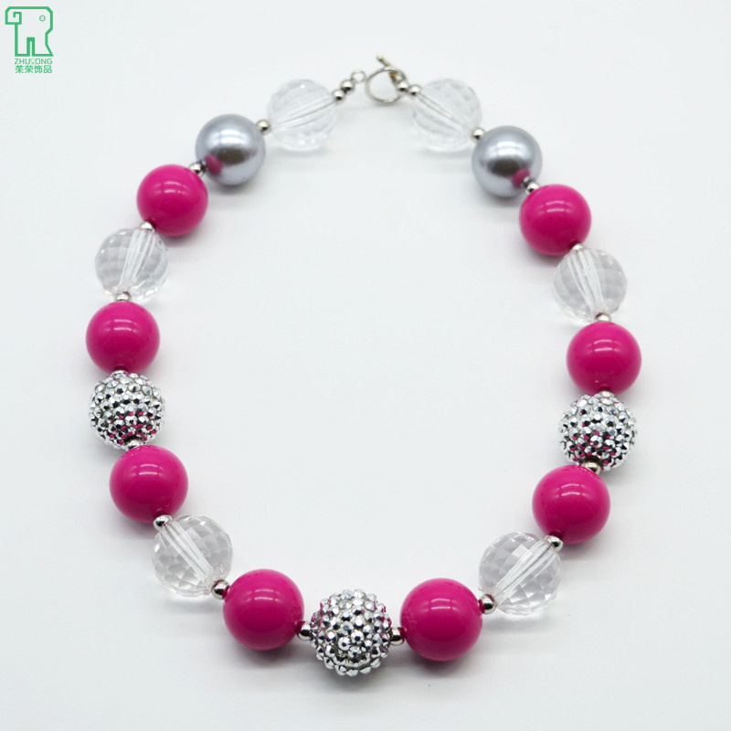 toddler chunky bubblegum necklace 2015 new fashion