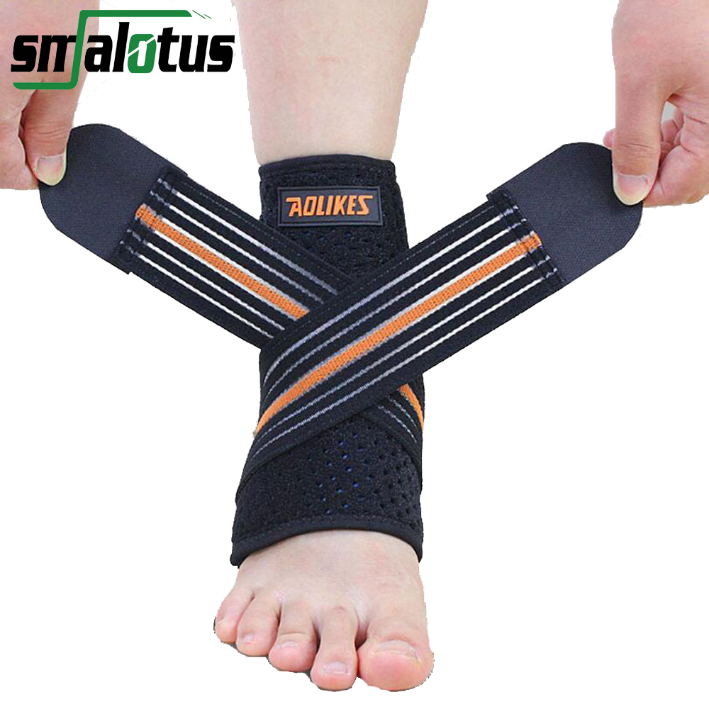 1pcs Adjustable Sport Breathable Ankle Brace Protector Football Basketball Elastic Ankle Support Pad Safety Brace Guard Support(China (Mainland))