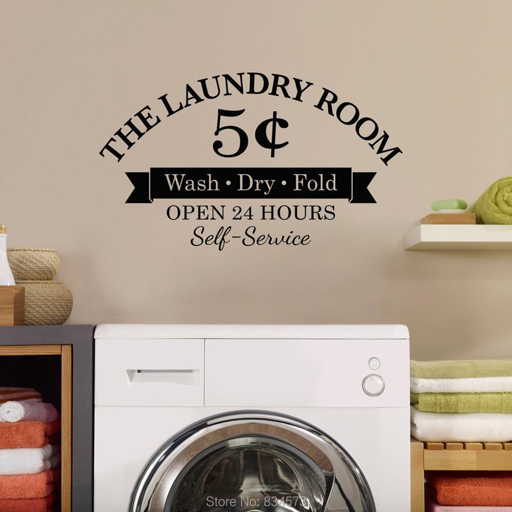 Laundry Room Wash Dry Fold Wall Art Stickers Wall Decal