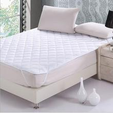 one piece white quilted mattress  Pad with filling single double queen king mattress cover also quilted fitted sheet(China (Mainland))