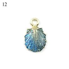 13 piezas Conch mar Shell colgante DIY dijes joyería fabricación hecha a mano accesorios Collar bohemio joyería regalo de Navidad(China)