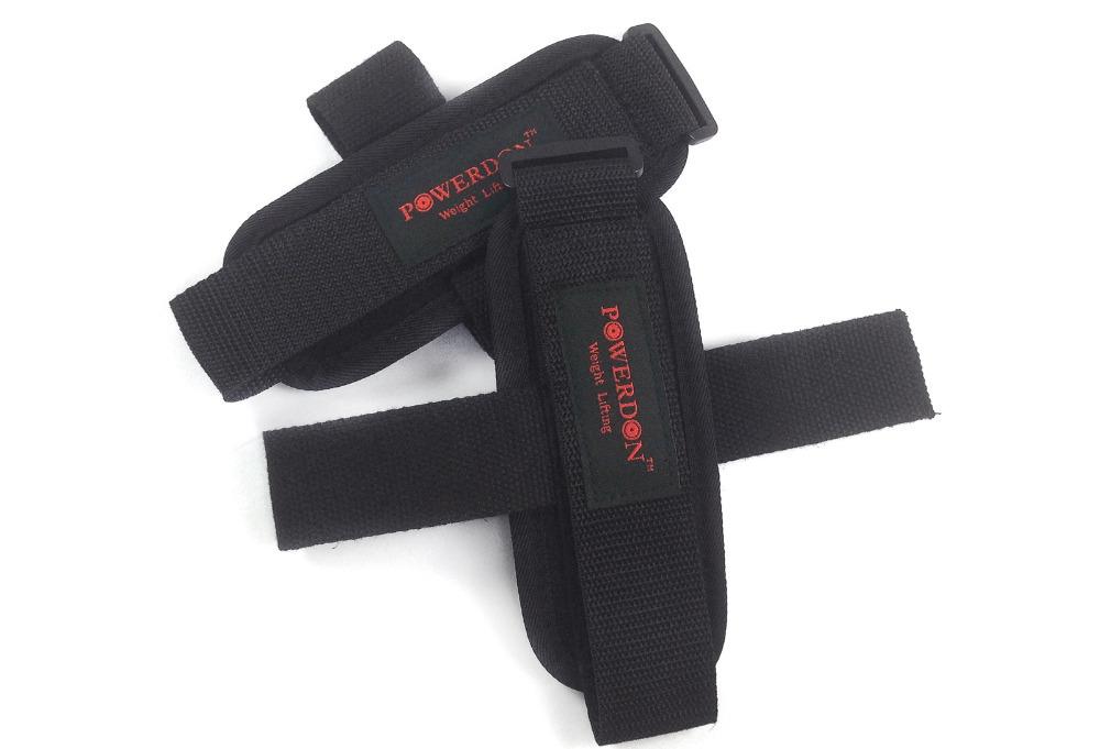 Wholesale 10pcs lot power weight lifting straps wrist support gym training bandage with hooks black