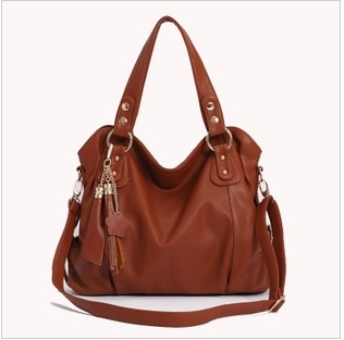 women's genuine Leather Handbag Fashion Tassel Shoulder Tote Handbags of Famous Women   messenger bag