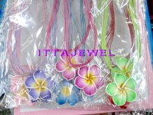 Wholesale  60sets Soft Polymer Clay Children Girl's Flower Necklace Earrings,party Jewelry Set(China (Mainland))