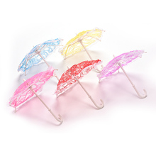 Lace Umbrella For Barbies Beautiful Doll Accessories Doll Gifts Colors Random(China (Mainland))