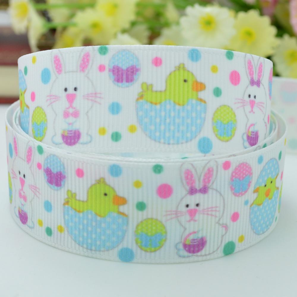 Easter Bunny Ribbed Bow Materials Wholesale 7/8 Printed Ribbon Christmas New(China (Mainland))