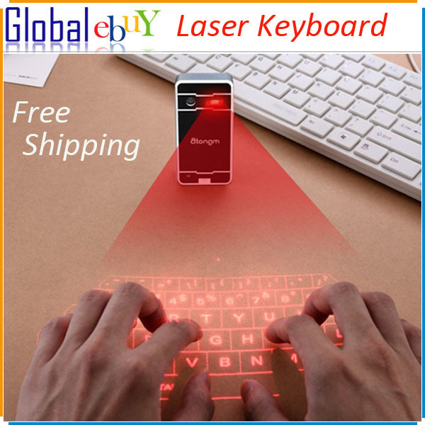 New arrival Wireless Virtual Bluetooth Laser Keyboards for Smart Phone PC Tablet Laptop Xiaomi 4 Wholesale Price(China (Mainland))
