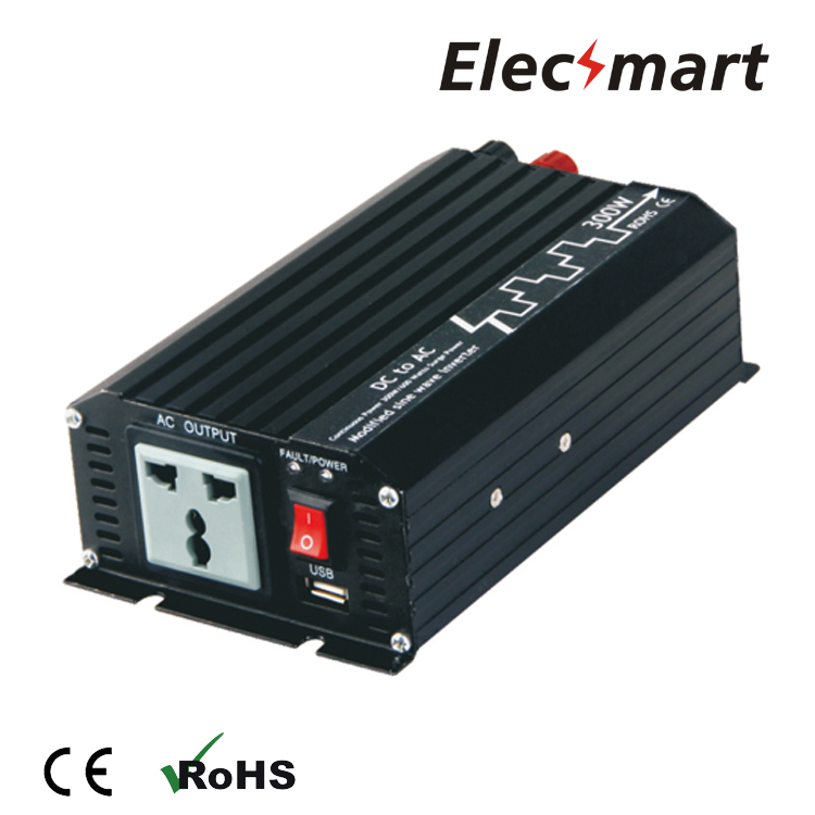 Power Inverter 300W 12VDC to 110VAC Modified sine wave with USB output(China (Mainland))