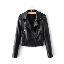 2016 New Fashion Women Motorcycle Faux Soft Leather Jackets Female Winter Autumn Brown Black Coat Outwear Hot Sale(China (Mainland))