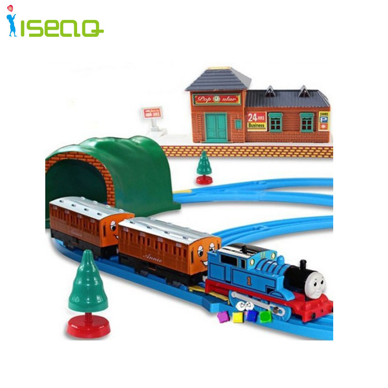 Thomas And Friends Electric Thomas Trains Set With Rail Toys For Children Boys Kids Toys Jugetes Para Ninos(China (Mainland))