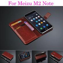 Чехол книжка из натуральной кожи с отделением для карточек для смартфона Meizu M2