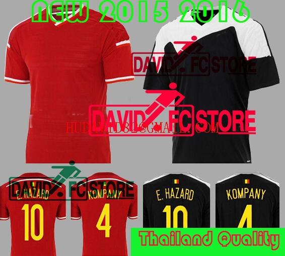 Camisa Belgium 2016 Soccer Jersey, Football Shirt Chandal 15 16 Belgium Jersey Kompany Fellaini De Bruyne Kits Red Black Soccer(China (Mainland))