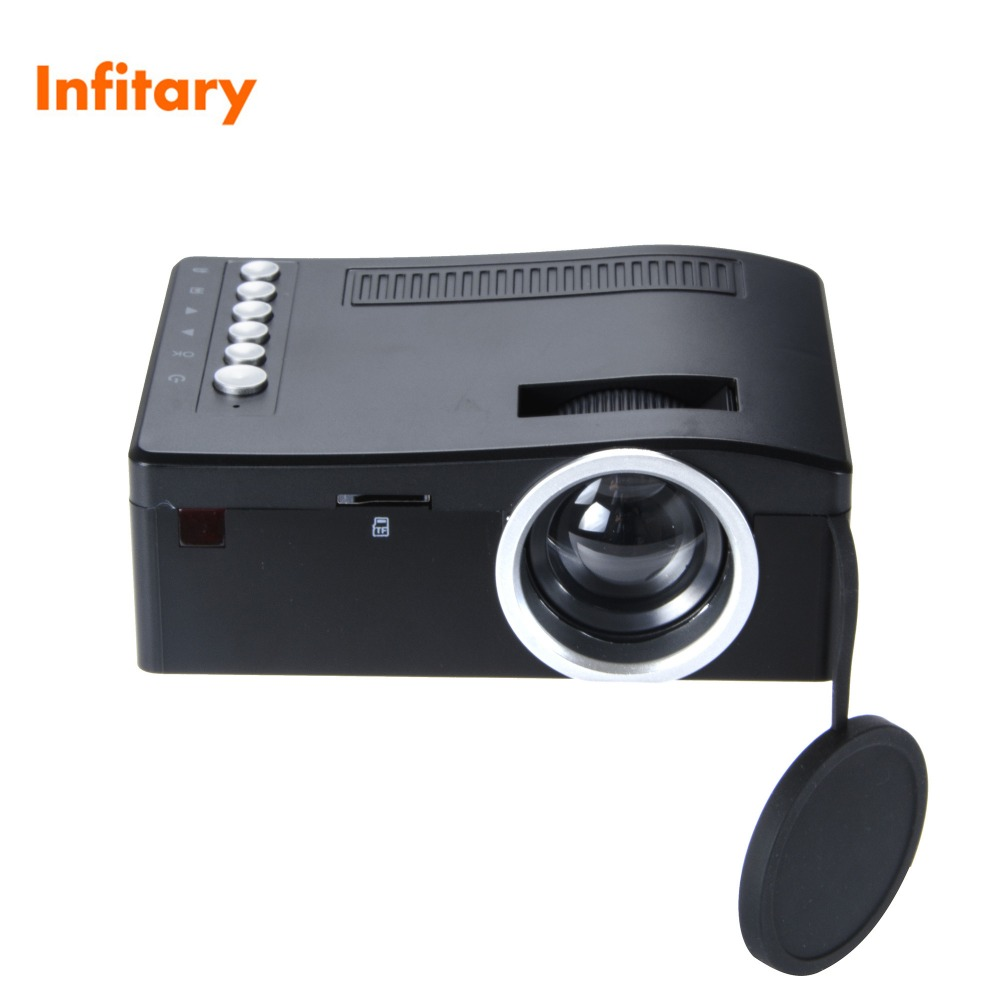 Uc18 320 180 mini projector phone hd 1080p video portable for Hd projector small