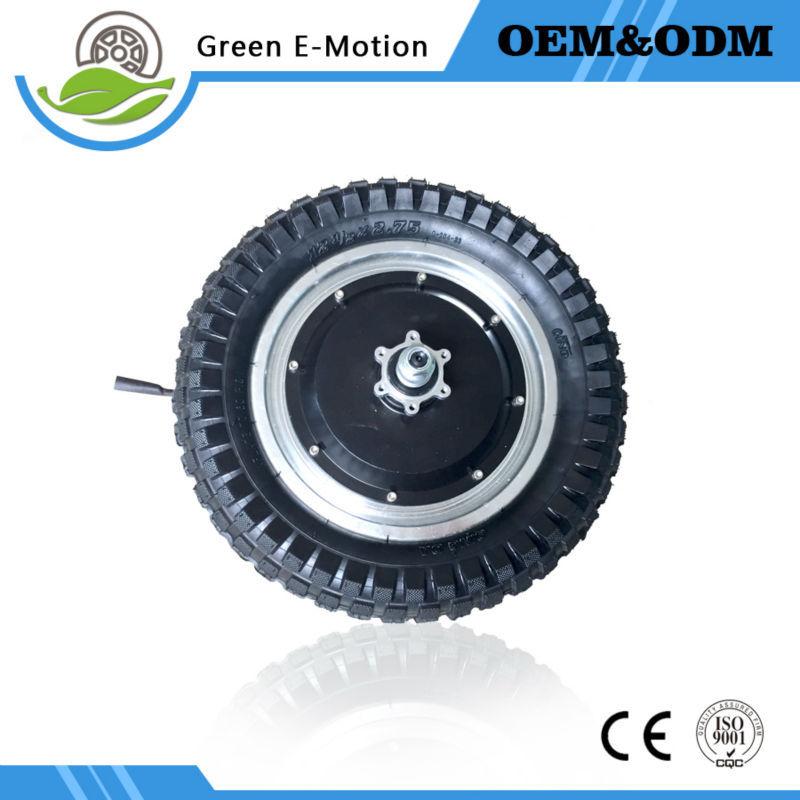 12'' electric fold ebike wheel dc hub motor 48v 350w