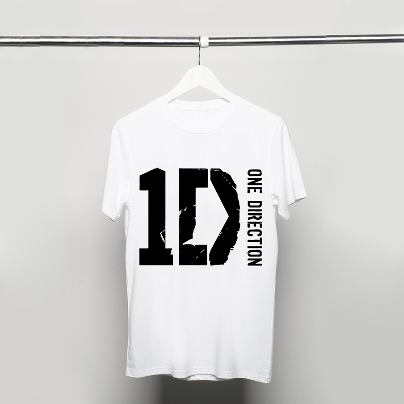 Cheap Summer One Direction Male Style men T Shirts Short Sleeve 1D Printed t-shirts Cotton Clothing free shipping(China (Mainland))