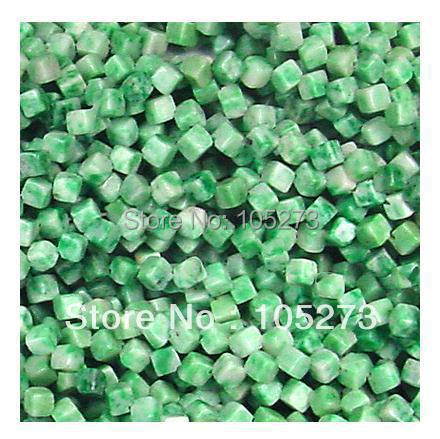 New Arriver Gem Stone Jewelry Green Natural Jade 4mm Dice Shaper Loose Beads 15''/string A+ Wholesale New Free Shipping