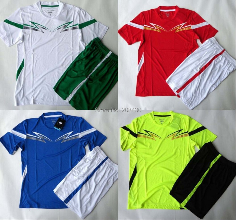 WHOLESALE! Blank soccer jersey Plain football sets soccer kit customize name&number% custom logo accept AAA quality free ship(China (Mainland))